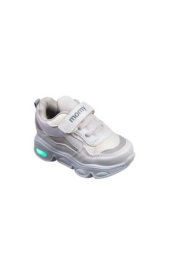 Momykids Spor Ayakkabı Beyaz Anatomik Çocuk Işıklı J50101 Poky Renkli